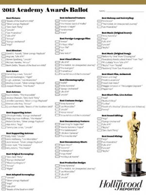 THR's Oscar Ballot: Click and Print