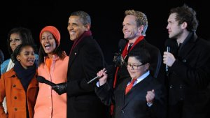 Celebrities Join First Family for White House Tree Lighting Ceremony