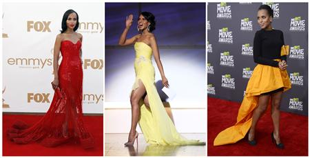 Combination photo of actress Kerry Washington