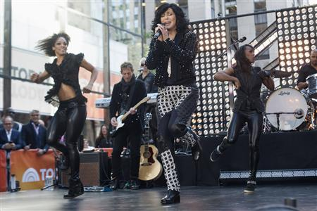 Singer Cher performs on NBC's 'Today' show in New York