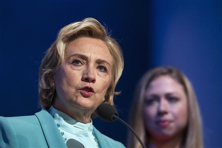 Former U.S. Secretary of State Hillary Clinton at CGI in New York