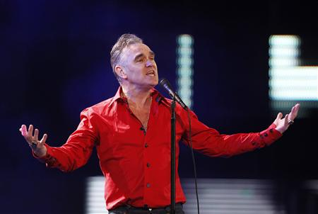 British singer-songwriter Morrissey performs during the International Song Festival in Vina del Mar city.