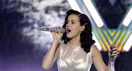 "aty Perry performs ""Roar"" during the release party of her album ""Prism"" at the iHeartRadio Theater Los Angeles in Burbank"