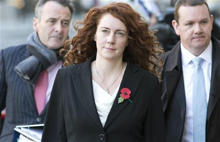 Former News International chief executive Rebekah Brooks arrives at the Old Bailey courthouse in London