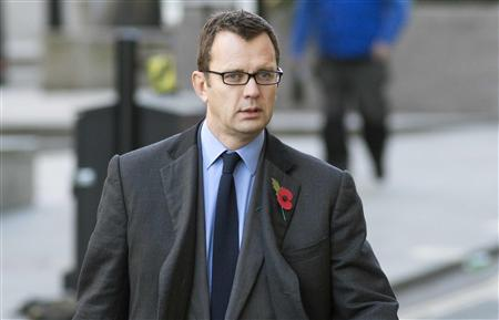 Former News of the World editor Andy Coulson arrives at the Old Bailey courthouse in London
