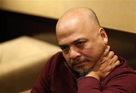 Joey Santiago of the American band the Pixies attends an interview with Reuters at Sofitel Lisbon hotel