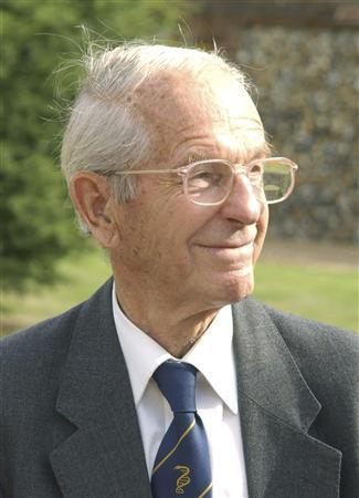 Handout image of Fred Sanger, a double Nobel Prize-winning British biochemist