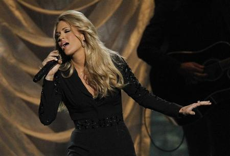 Carrie Underwood performs a medley of songs at the 47th Country Music Association Awards in Nashville, Tennessee