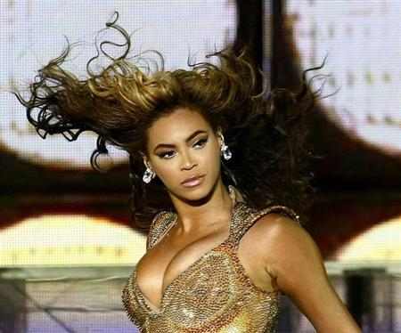 U.S. singer Beyonce performs during a concert in Lima
