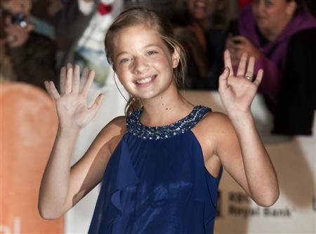 File photo of Jackie Evancho arriving for showing of the film 'The Company You Keep' in Toronto