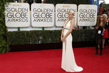 Margot Robbie arrives at the 71st annual Golden Globe Awards in Beverly Hills
