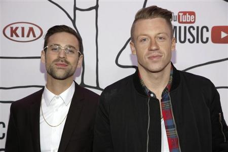 Ryan Lewis and Macklemore attend the YouTube Music Awards in New York