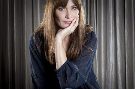 "Singer Carla Bruni-Sarkozy poses for a portrait as she promotes her new album ""Little French Songs"" in New York"