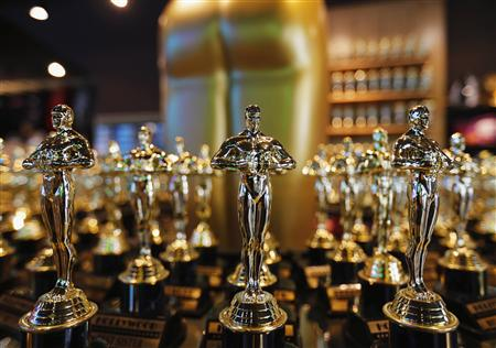 Oscar statuettes are seen for sale in a shop along Hollywood Blvd. in Hollywood