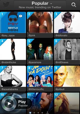 Twitter #Music App Is Splashy, Fun and a Work in Progress