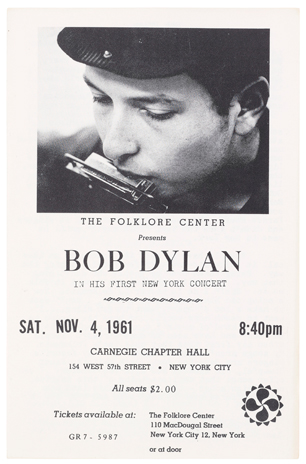 Unreleased Bob Dylan Lyrics to be Auctioned By Christie's