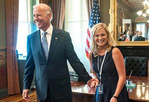 Joe Biden and Amy Poehler | Photo Credits: David Giesbrecht/NBC