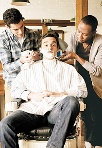 Max Greenfield, Jake Johnson and Lamorne Morris | Photo Credits: Maarten de Boer