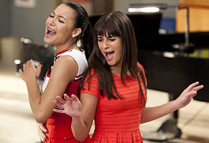 Naya Rivera, Lea Michele | Photo Credits: Adam Rose/Fox