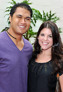 Sam Poueu and Stephanie Anderson   Photo Credits: Frazer Harrison/Getty Images