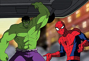 Ultimate Spider-Man with the Hulk | Photo Credits: Marvel Studios