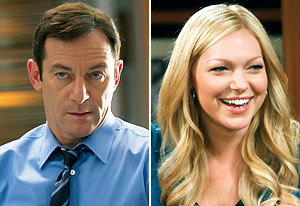 Jason Isaacs, Laura Prepon | Photo Credits: Justin Lubin/NBC, Jordin Althaus/NBC