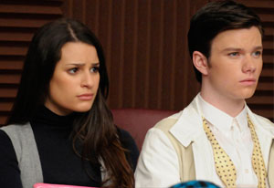 Glee, Lea Michele and Chris Colfer | Photo Credits: Michael Yarish/Fox