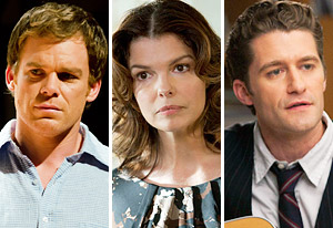 Michael C. Hall, Jeanne Tripplehorn, Matthew Morrison | Photo Credits: Randy Tepper/Showtime, Lacey Terrell/ HBO, Adam Rose/FOX