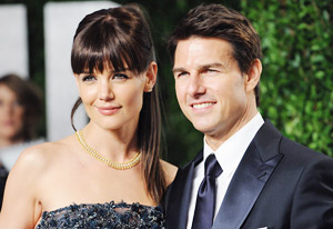 Katie Holmes and Tom Cruise | Photo Credits: Jon Kopaloff/FilmMagic