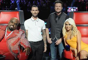 Cee-Lo Green, Adam Levine, Blake Shelton, Christina Aguilera | Photo Credits: Lewis Jacobs/NBC