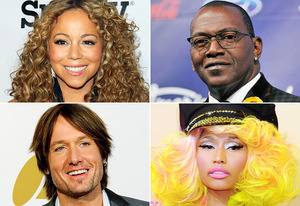 Mariah Carey, Randy Jackson, Keith Urban, Nicki Minaj | Photo Credits: JB Lacroix/WireImage, Jordan Strauss/WireImage, Kevork Djansezian/Getty Images, Jeffrey Mayer/WireImage