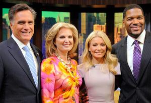 Mitt Romney, Ann Romney, Kelly Ripa, Michael Strahan | Photo Credits: Lorenzo Bevilaqua/Disney-ABC