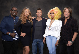 Randy Jackson, Mariah Carey, Ryan Seacrest, Nicki Minaj and Keith Urban | Photo Credits: Michael Becker / FOX