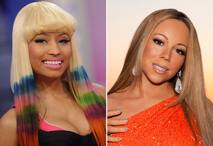 Nicki Minaj, Mariah Carey | Photo Credits: Brad Barket/PictureGroup; Mark Cant