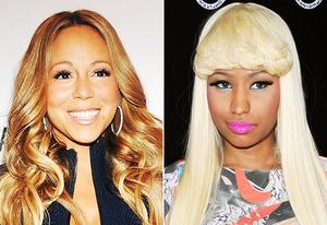 Mariah Carey, Nicki Minaj | Photo Credits: Desiree Navarro/WireImage, Amanda Edwards/Getty Images