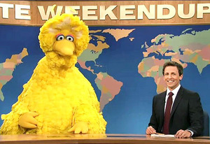 Big Bird and Seth Myers | Photo Credits: NBC