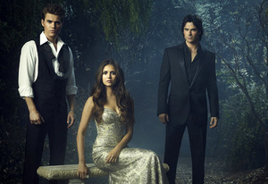 Paul Wesley, Nina Dobrev and Ian Somerhalder | Photo Credits: Justin Stephens/The CW