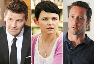 David Boreanaz, Ginnifer Goodwin, Alex O'Loughlin | Photo Credits: Adam Taylor/FOX, Jack Rowand/ABC, Norman Shapiro/CBS