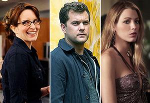 Tina Fey, Joshua jackson, Blake Lively | Photo Credits: Ali Goldstein/NBC; Liane Hentscher/FOX; Giovanni Rufino/The CW