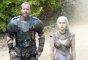 Iain Glen and Emilia Clarke | Photo Credits: Paul Schiraldi/HBO