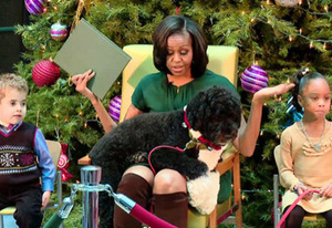 Michelle and Bo Obama | Photo Credits: ET Online/Jarett Wieselman