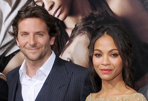 Bradley Cooper and Zoe Saldana | Photo Credits: Gregg DeGuire/WireImage