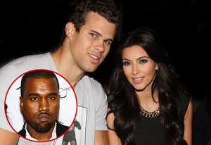 Kris Humphries, Kim Kardashian, Kanye West (inset) | Photo Credits: Jerritt Clark/WireImage; Denise Truscello/WireImage