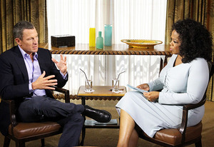 Lance Armstrong and Oprah Winfrey | Photo Credits: George Burns/OWN