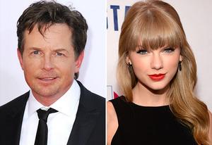 Michael J. Fox, Taylor Swift | Photo Credits: Steve Granitz/WireImage; Kevin Mazur/Getty Images