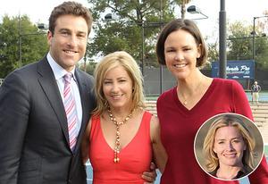 Justin Gimelstob, Chris Evert, Lindsay Davenport, Elisabeth Shue   Photo Credits: Monty Brinton/CBS