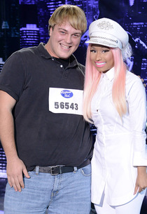 "Contestant Chris ""Mushroom"" Barthel and Nicki Minaj 