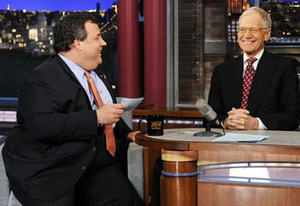 Chris Christie, David Letterman | Photo Credits: CBS