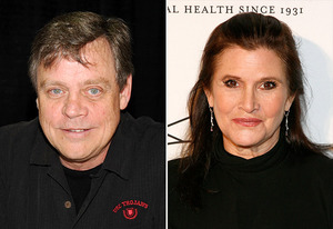 Mark Hamill, Carrie Fisher | Photo Credits: Bobby Bank/WireImage; Andy Kropa/Getty Images