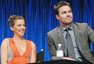 Katie Cassidy and Stephen Amell | Photo Credits: Kevin Parry for Paley Center for Media
